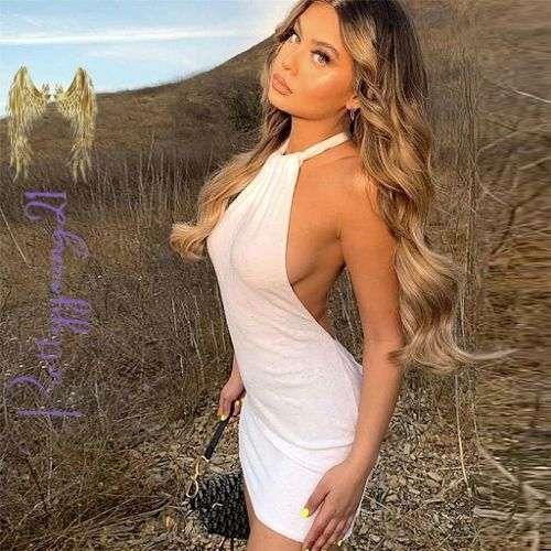 Pure White Backless Cover Up Dress